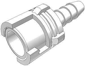 SMFD02 - Kupplung 3,2 mm Schlauchanschluss, mit Absperrventil, Buna-N Dichtung