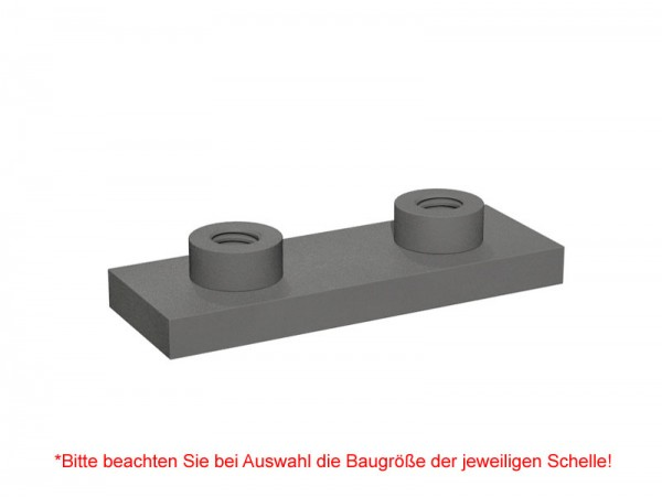 STAUFF Schweißplatte SPAL für Schwere-Baureihe, Stahl phosphatiert