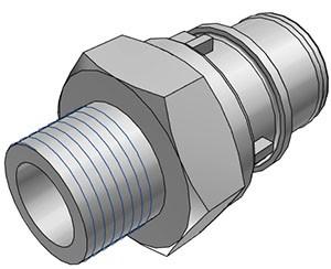 """HFC24612 - Stecker 3/8"""" NPT Außengewinde, ohne Absperrventil, EPDM-Dichtung"""