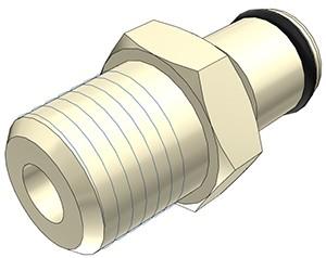 """PLC2400412 - Stecker 1/4"""" NPT Außengewinde, ohne Absperrventil, EPDM-Dichtung"""