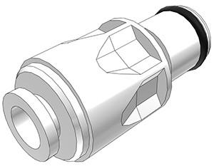 PLC29004 - Stecker 6,4 mm AD JG®, ohne Absperrventil, Buna-N Dichtung