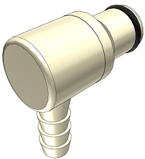 PLC2300412 - Stecker 6,4 mm Schlauchanschluss, ohne Absperrventil, EPDM-Dichtung