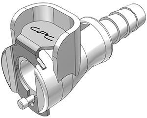 PMCD1704 - Kupplung 6,4 mm Schlauchanschluss, mit Absperrventil, Buna-N Dichtung