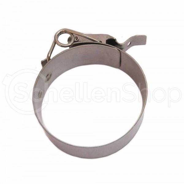 Schnellverschluss-Schelle mit Federbügel   Edelstahl Schlauchschelle