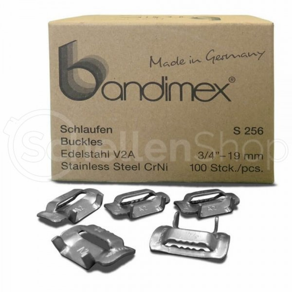 Bandimex Schlaufe für Bandbreite 19 mm (3⁄4″), V2A Edelstahl