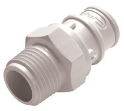 """FFC24835 - Stecker 1/2"""" NPT Außengewinde, ohne Absperrventil, Buna-N Dichtung (FDA)"""
