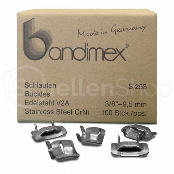 Bandimex S253 Schlaufe für Bandbreite 9 mm (3⁄8″), V2A Edelstahl