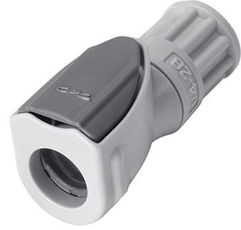 NS1D19042812 - Kupplung 3,2 mm oder kleiner Schlauchanschluss, mit Absperrventil, EPDM-Dichtung