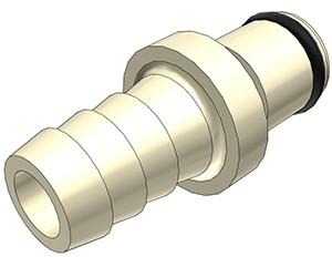 PLC2200612 - Stecker 9,5 mm Schlauchanschluss, ohne Absperrventil, EPDM-Dichtung