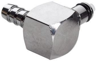 MCD2304 - Winkelstecker 6,4 mm Schlauchanschluss, mit Absperrventil, Buna-N Dichtung