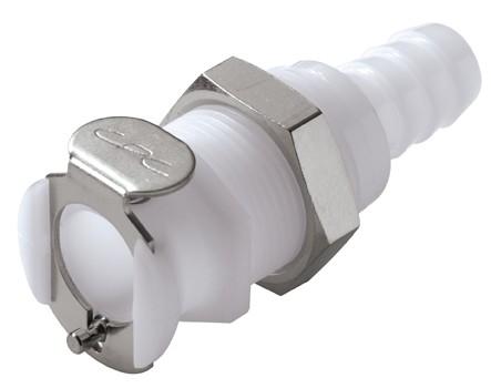 PLC16006 - Kupplung 9,5 mm Schlauchanschluss, Plattenmontage, ohne Absperrventil