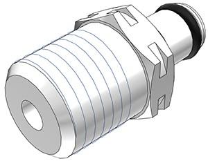 """PMC2404 - Stecker 1/4"""" NPT Außengewinde, ohne Absperrventil, Buna-N Dichtung"""