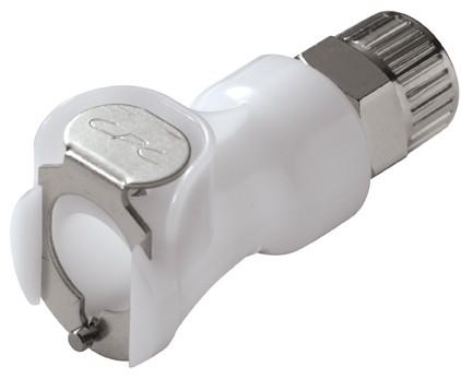 PLC13006 - Kupplung 9,5mm AD / 6,4 mm ID Klemmringverschraubung, ohne Absperrventil