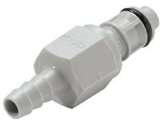 EFCD22412 - Stecker 6,4 mm Schlauchanschluss, mit Absperrventil, EPDM-Dichtung