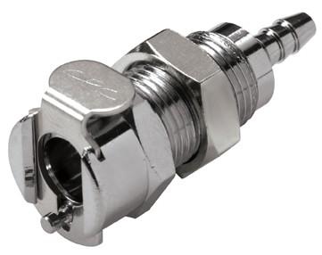 MC1602 - Kupplung 3,2 mm Schlauchanschluss, Plattenmontage, ohne Absperrventil