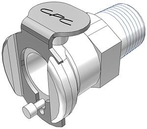 """PMC1002BSPT - Kupplung 1/8"""" BSPT Außengewinde, ohne Absperrventil"""