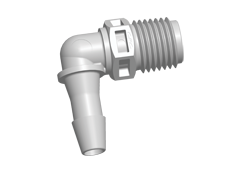 "N8E8 - Einschraubstutzen 6,4 mm Schlauchanschluss / 1/4"" NPT Gewinde, Polypropylen (PP)"