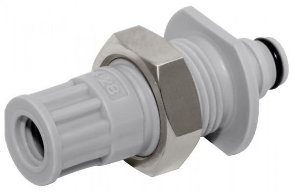 NS1D48042812 - Stecker 3,2 mm oder kleiner Schlauchanschluss, mit Absperrventil, EPDM-Dichtung