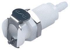 PMC1602 - Kupplung 3,2 mm Schlauchanschluss, Plattenmontage, ohne Absperrventil