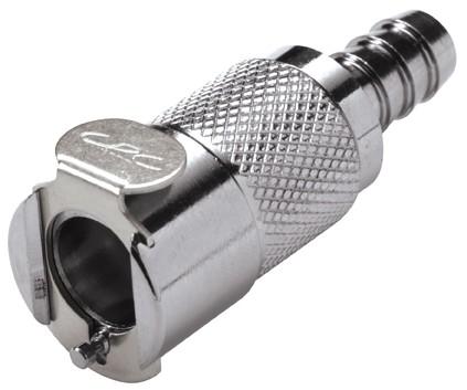 LCD17005V - Kupplung für 8 mm Benzinschlauch, mit Absperrventil, Viton-Dichtung