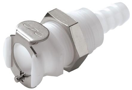 PLC16005 - Kupplung 7,9 mm Schlauchanschluss, Plattenmontage, ohne Absperrventil