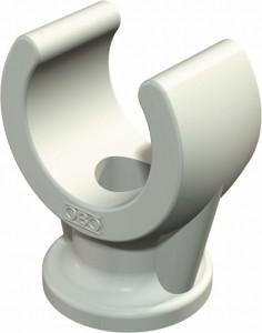 Sockel-Klemmschelle Typ 2962, lichtgrau, Polypropylen (PP)