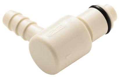 PLCD2300412 - Stecker 6,4 mm Schlauchanschluss, mit Absperrventil, EPDM-Dichtung
