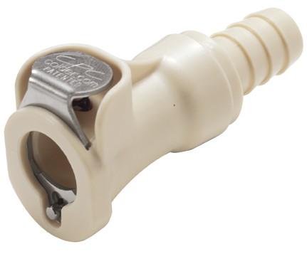 PLCD1700612 - Kupplung 9,5 mm Schlauchanschluss, mit Absperrventil, EPDM-Dichtung