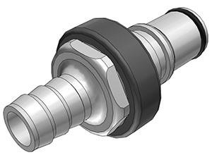 NS6D22008 - Stecker 12,7 mm Schlauchanschluss, mit Absperrventil, EPDM-Dichtung