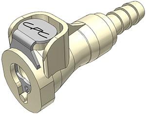 PMCD170412 - Kupplung 6,4 mm Schlauchanschluss, mit Absperrventil. EPDM-Dichtung