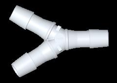HY1270 - Y-Schlauchverbinder 9,5 mm Schlauchanschluss, PVDF