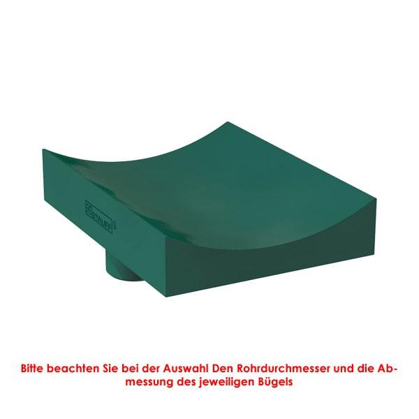 Kunststoff-Rohrunterlage RUK, kurz, PP, grün