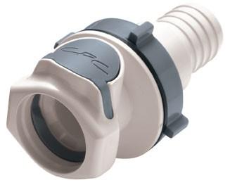 FFC161235 - Kupplung 19,0 mm Schlauchanschluss, Plattenmontage, ohne Absperrventil, Buna-N (FDA)