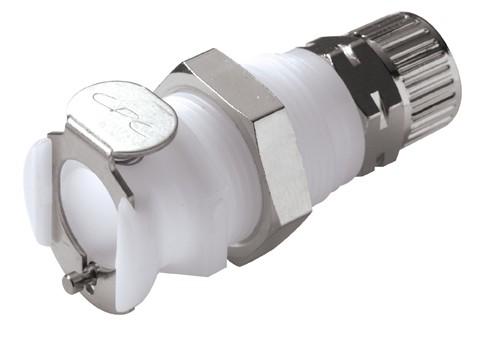 PLC120M10 - Kupplung 10,0 mm AD / 8,0 mm ID Klemmringverschraubung, ohne Absperrventil