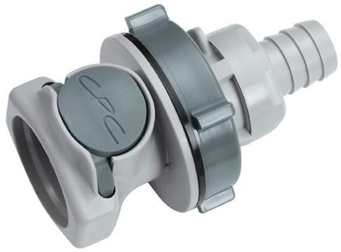 HFC16812 - Kupplung 12,7 mm Schlauchanschluss, Plattenmontage, ohne Absperrventil