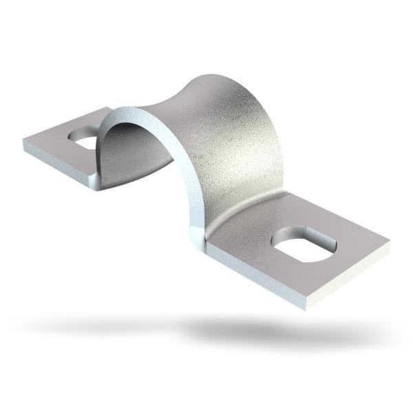 Befestigungsschelle, Werksnorm 7855 / B, zweilaschig, Stahl verzinkt