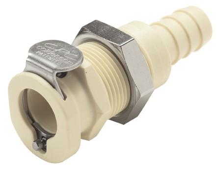 PLCD1600612 - Kupplung 9,5 mm Schlauchanschluss, Plattenmontage, mit Absperrventil, EPDM-Dichtung