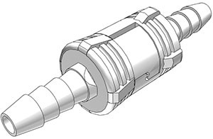 SMC02 - komplette Kupplung 3,2 mm Schlauchanschluss, ohne Absperrventil, Buna-N Dichtung