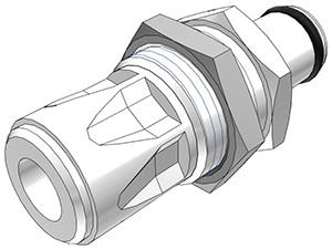 PLC41004 - Stecker 6,4 mm AD JG®, ohne Absperrventil, Buna-N Dichtung