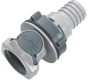 HFCD161212 - Kupplung 19,0 mm Schlauchanschluss, Plattenmontage, mit Absperrventil, EPDM-Dichtung