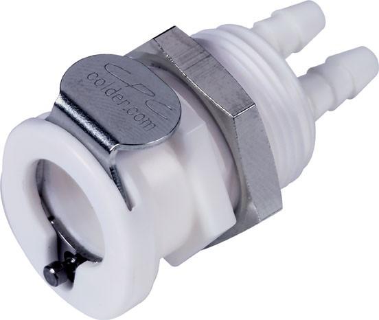 PTC1602096 | CPC Twintube Kupplung | 3,2mm Schlauch | ABS