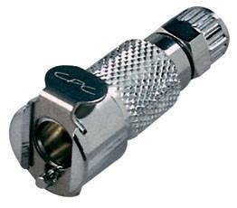 MCD1304 - Kupplung 6,4 mm AD / 4,3 mm ID Klemmringverschraubung, mit Absperrventil, Buna-N Dichtung