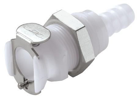 PLCD16005 - Kupplung 7,9 mm Schlauchanschluss, Plattenmontage, mit Absperrventil, Buna-N Dichtung