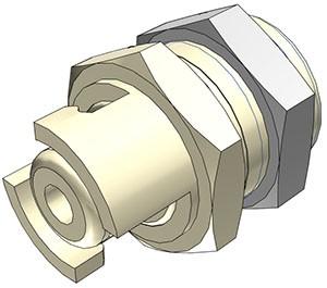 SMMPM0212 - Stecker 3,2 mm Schlauchanschluss, ohne Absperrventil, Buna-N Dichtung