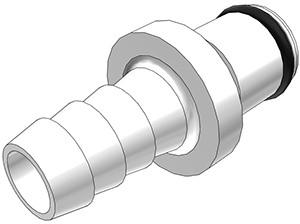 PLC22006 - Stecker 9,5 mm Schlauchanschluss, ohne Absperrventil, Buna-N Dichtung