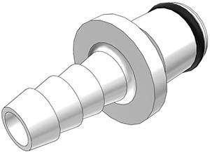 PLC22004 - Stecker 6,4 mm Schlauchanschluss, ohne Absperrventil, Buna-N Dichtung