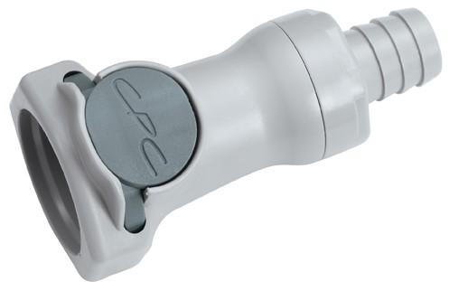 HFCD17812 - Kupplung 12,7 mm Schlauchanschluss, mit Absperrventil, EPDM-Dichtung