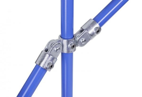 NORMAFIX® Kreuzverbinder mit 1 Durchgang / 2 Gelenkabgängen - Typ 167