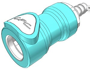NS4D1700406 - Kupplung 6,4 mm Schlauchanschluss, mit Absperrventil, EPDM-Dichtung