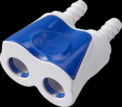 DTLD17006 - Doppelkupplung 9,5 mm Schlauchanschluss, mit Absperrventil, Buna-N Dichtung